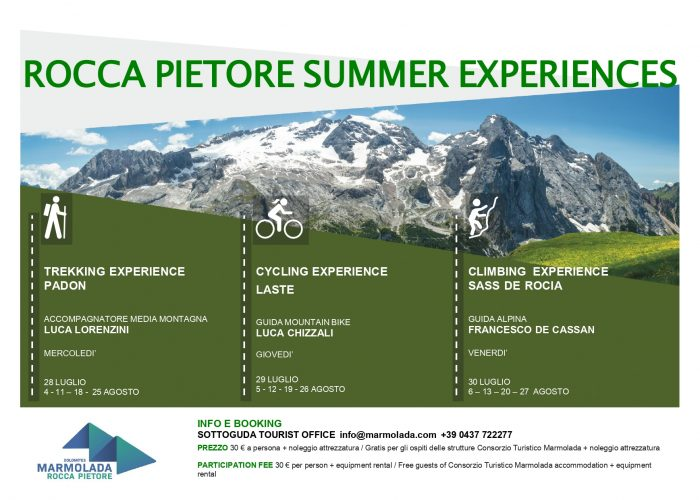 LOCANDINA ROCCA PIETORE SUMMER EXPERIENCES